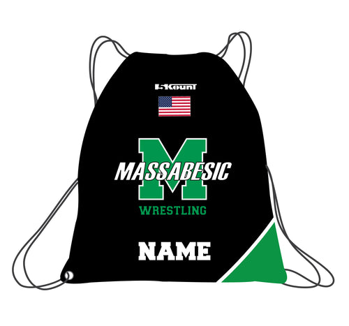 Massabesic Youth Wrestling Sublimated Drawstring Bag - 5KounT2018