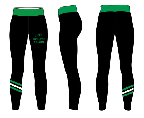 Massebesic Youth Wrestling Sublimated Ladies Leggings - 5KounT2018