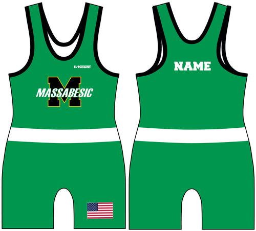 Massabesic Youth Wrestling Sublimated Singlet Design 2 - 5KounT2018