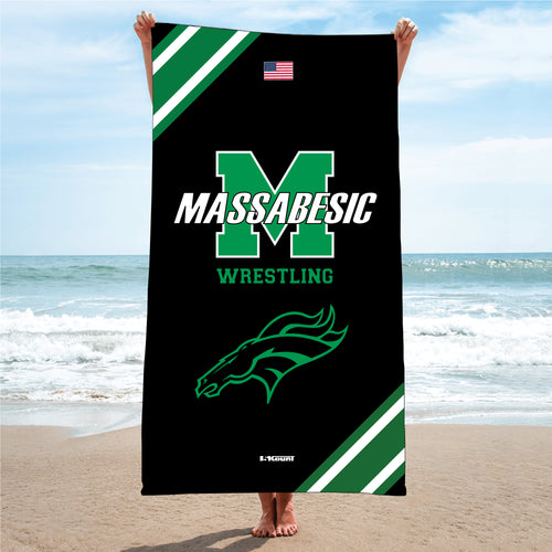 Massabesic Youth Wrestling Sublimated Beach Towel - 5KounT2018