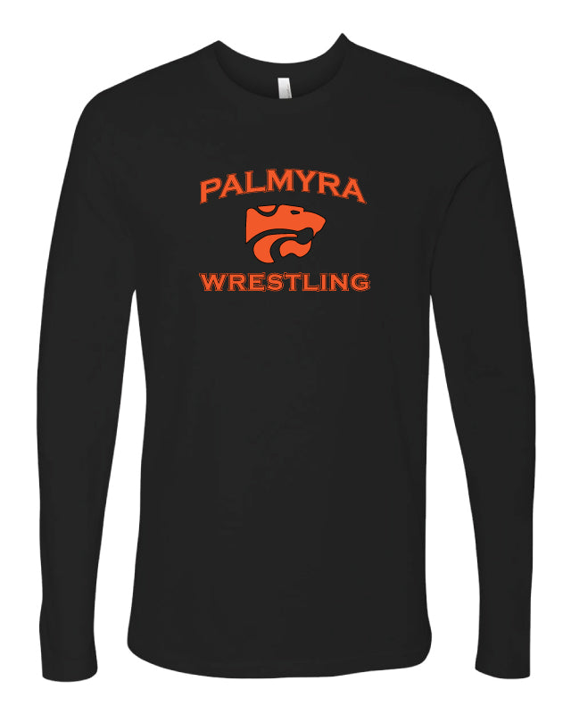 Palmyra Wrestling Long Sleeve Cotton Crew - Black
