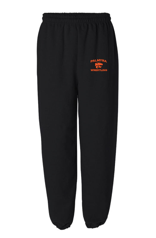 Palmyra Wrestling Cotton Sweatpants - Black