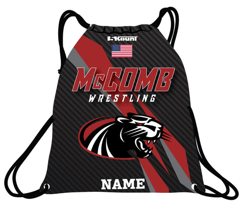 McComb Wrestling Sublimated Drawstring Bag