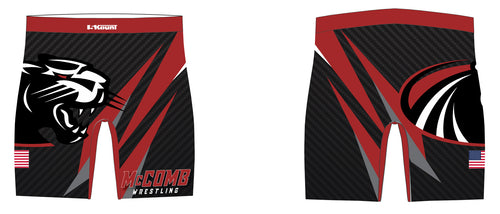McComb Wrestling Sublimated Compression Shorts