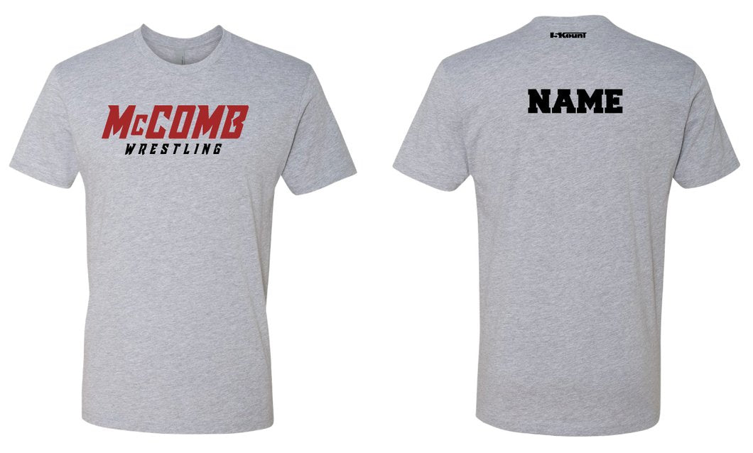 McComb-Wrestling Cotton Crew Tee - Heather Grey - 5KounT