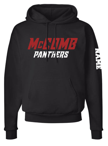 McComb-Panthers Cotton Hoodie - Black