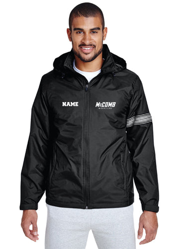 McComb Wrestling All Season Hooded Jacket - Black