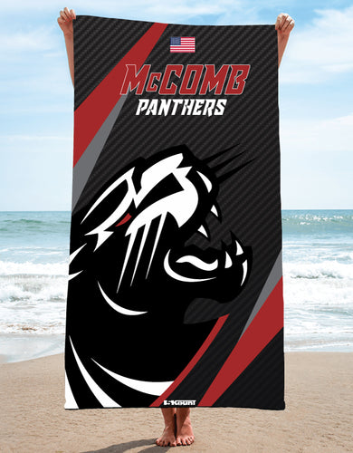 McComb Wrestling Panthers Sublimated Beach Towel - 5KounT2018