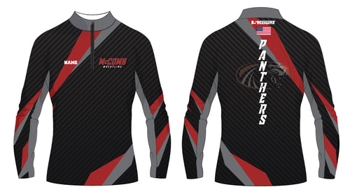 McComb Wrestling Panthers Sublimated Quarter Zip