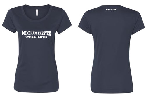 Mendham Chester Wrestling DryFit Performance Tee - Women - Navy