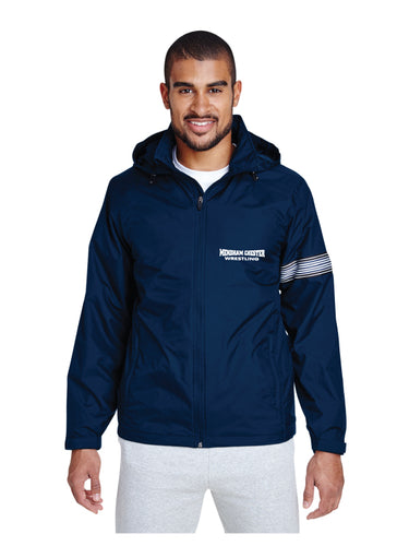 Mendham Chester Wrestling All Season Hooded Jacket - Navy