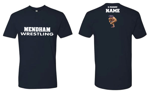 Mendham Cotton Crew Tee - Navy / Red / White
