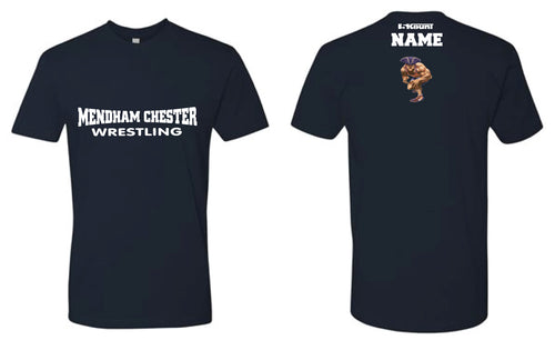 Mendham Chester Wrestling Cotton Crew Tee - Navy