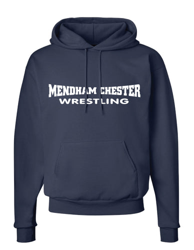 Mendham Chester Wrestling Cotton Hoodie - Navy