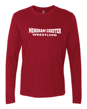 Mendham Chester Wrestling Long Sleeve cotton Tee - Navy