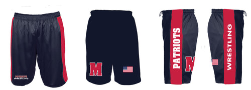 Mendham Chester Wrestling Sublimated Shorts