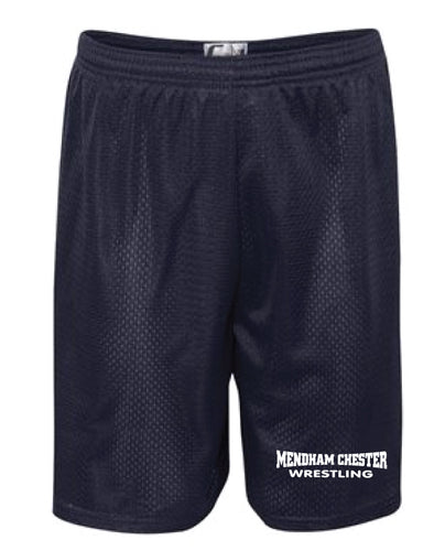 Mendham Chester Wrestling Tech Shorts - Navy