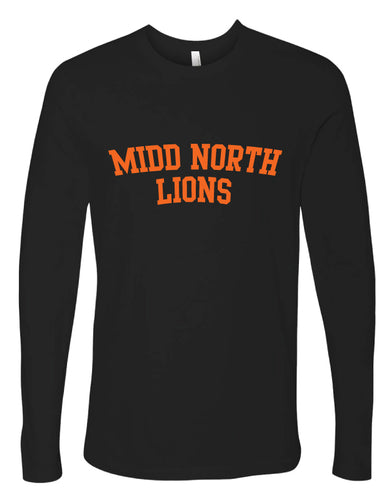 Midd North Lions Cotton Long Sleeve - Black