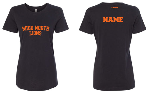 Midd North Lions Cotton Crew Tee Women - Black