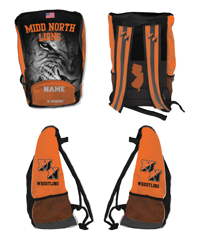 Midd North Lions Sublimated Backpack