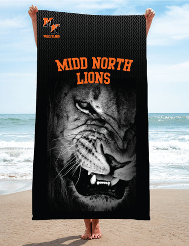 Midd North Lions Sublimated Beach Towel