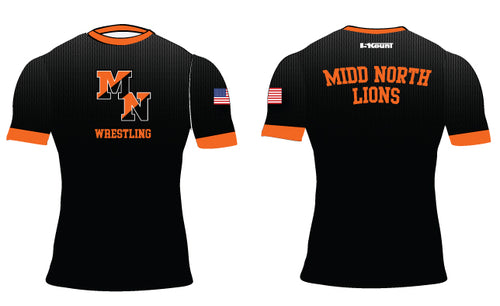 Midd North Lions Sublimated Compression Shirt (no lion)