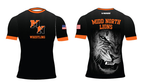 Midd North Lions Sublimated Compression Shirt
