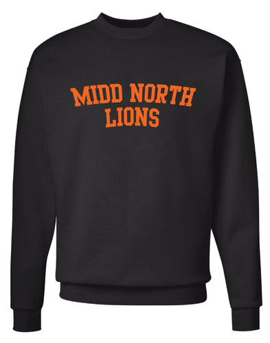 Midd North Lions Crewneck Sweatshirt - Black