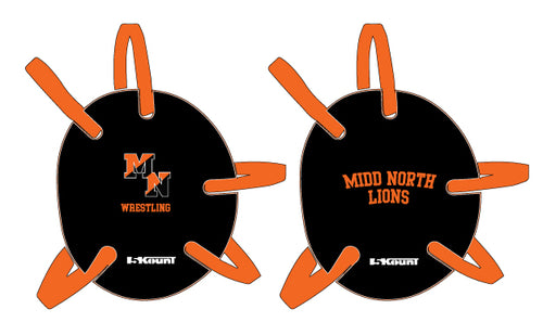 Midd North Lions Wrestling Headgear Decal