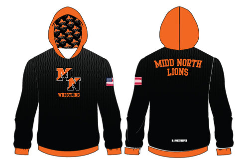 Midd North Lions Sublimated Hoodie (no lion)