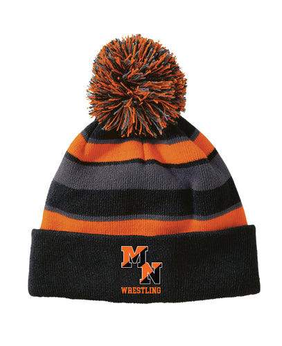 Midd North Lions Pom Beanie - Black-Orange-Gray