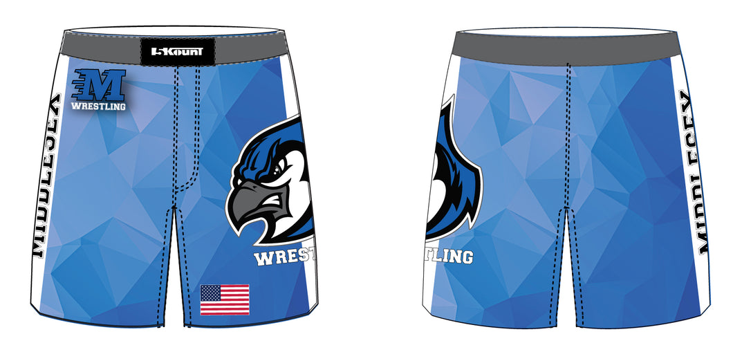 Middlesex Wrestling Sublimated Fight Shorts - 5KounT2018