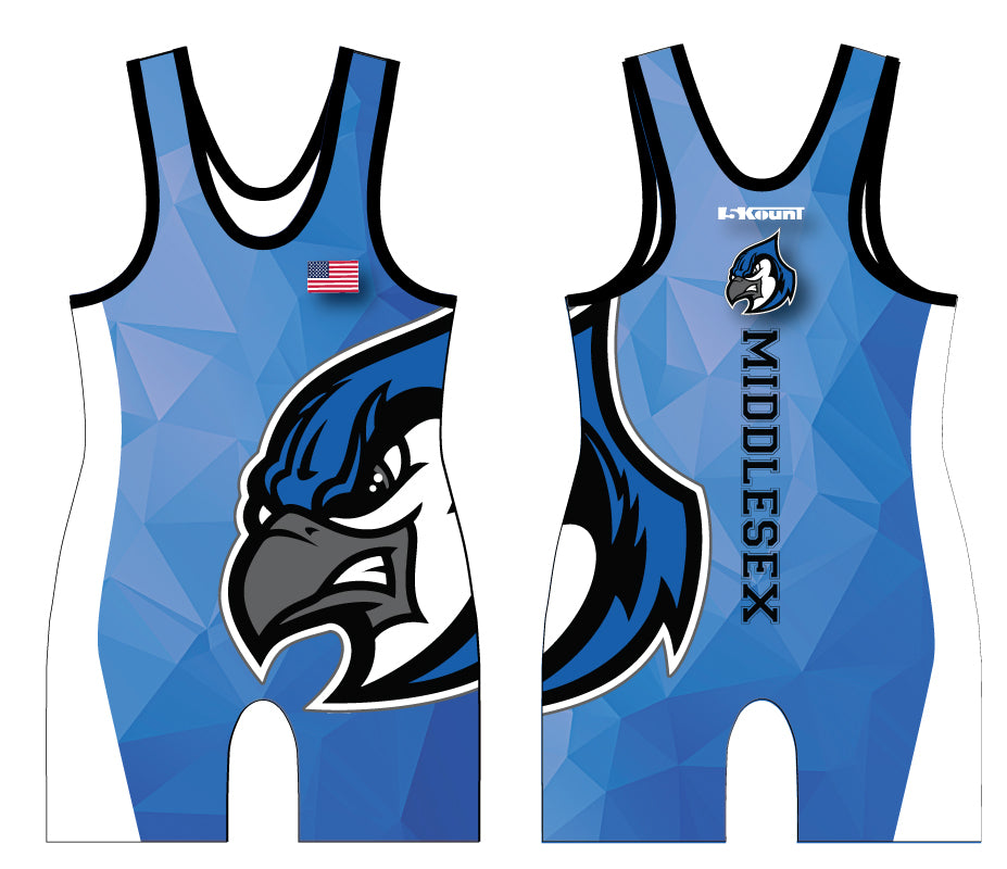 Middlesex Wrestling Sublimated Singlet - 5KounT2018