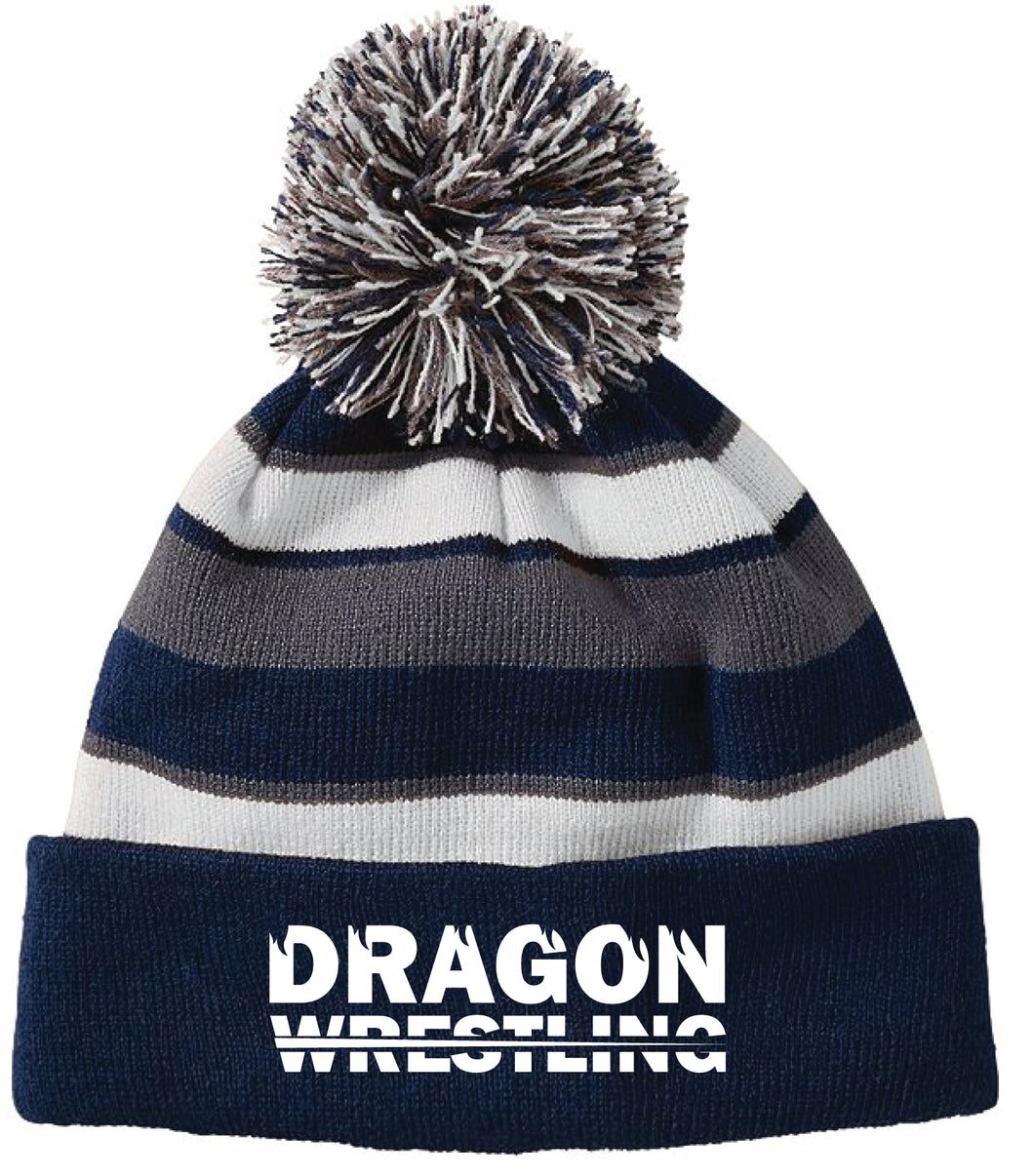 Middletown Dragons Pom Beanie