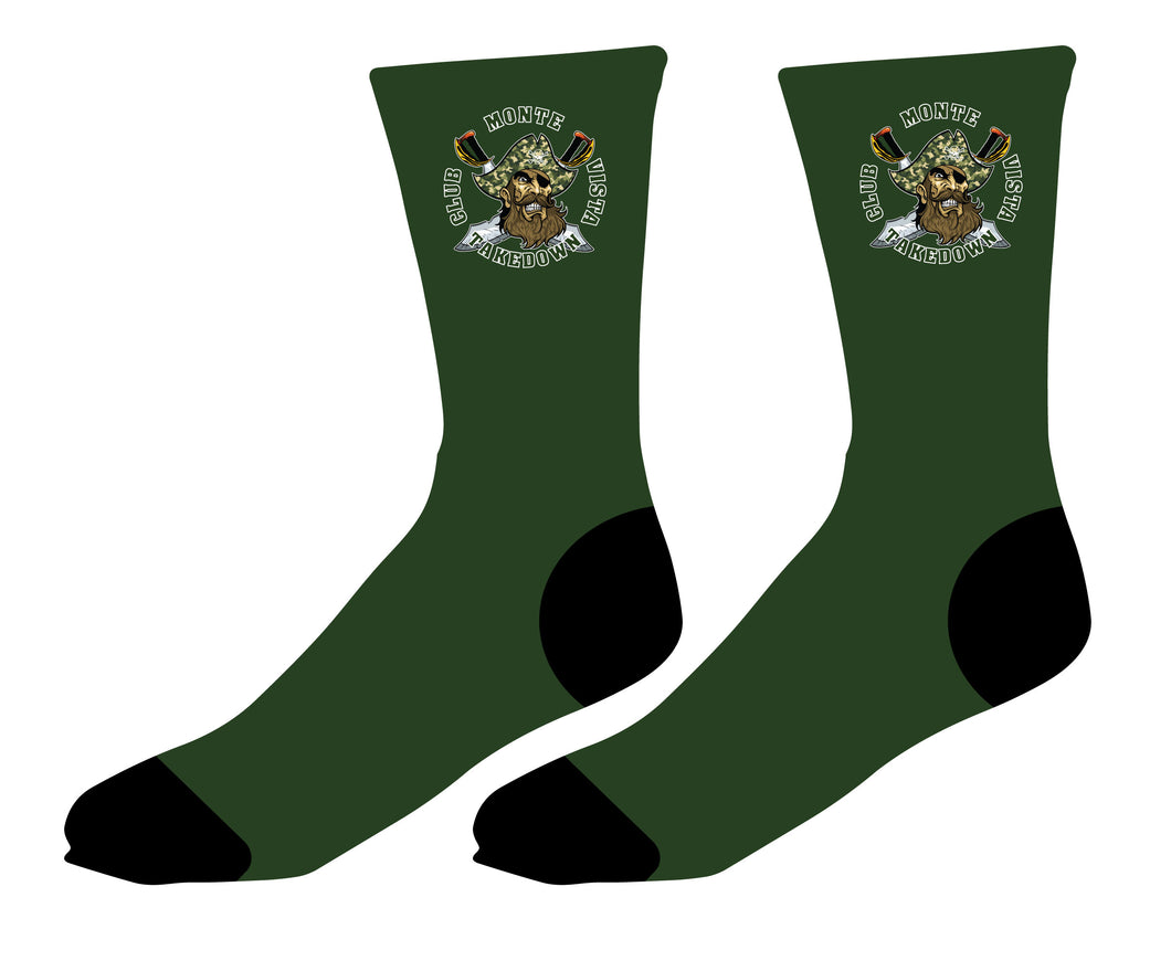 Monte Vista Takedown Club Wrestling Sublimated Socks - 5KounT2018