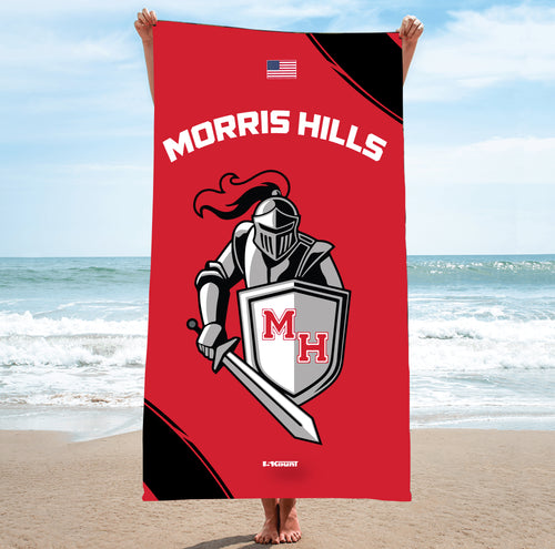 Morris Hills Knights Sublimated Beach Towel - 5KounT2018