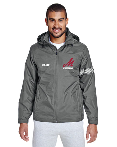 Muhlenberg University All Season Hooded Jacket - Grey