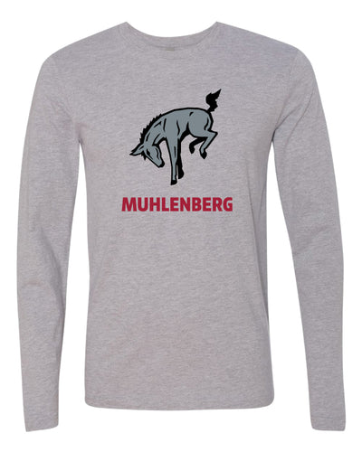 Muhlenberg University Long Sleeve Cotton Crew - Heather Grey