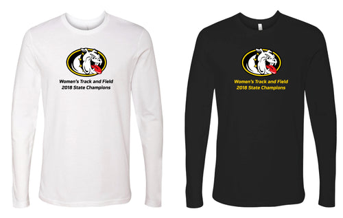Murphy HS Track&Field Long Sleeve Cotton Crews - Black or White - 5KounT2018