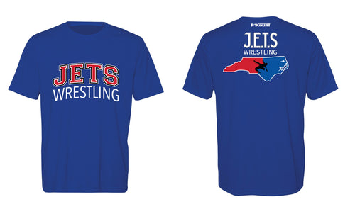 NC Jets Wrestling DryFit Performance Tee - Royal - 5KounT2018