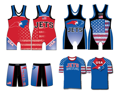 NC Jets Wrestling Package [singlet-shorts-shirt] - 5KounT2018