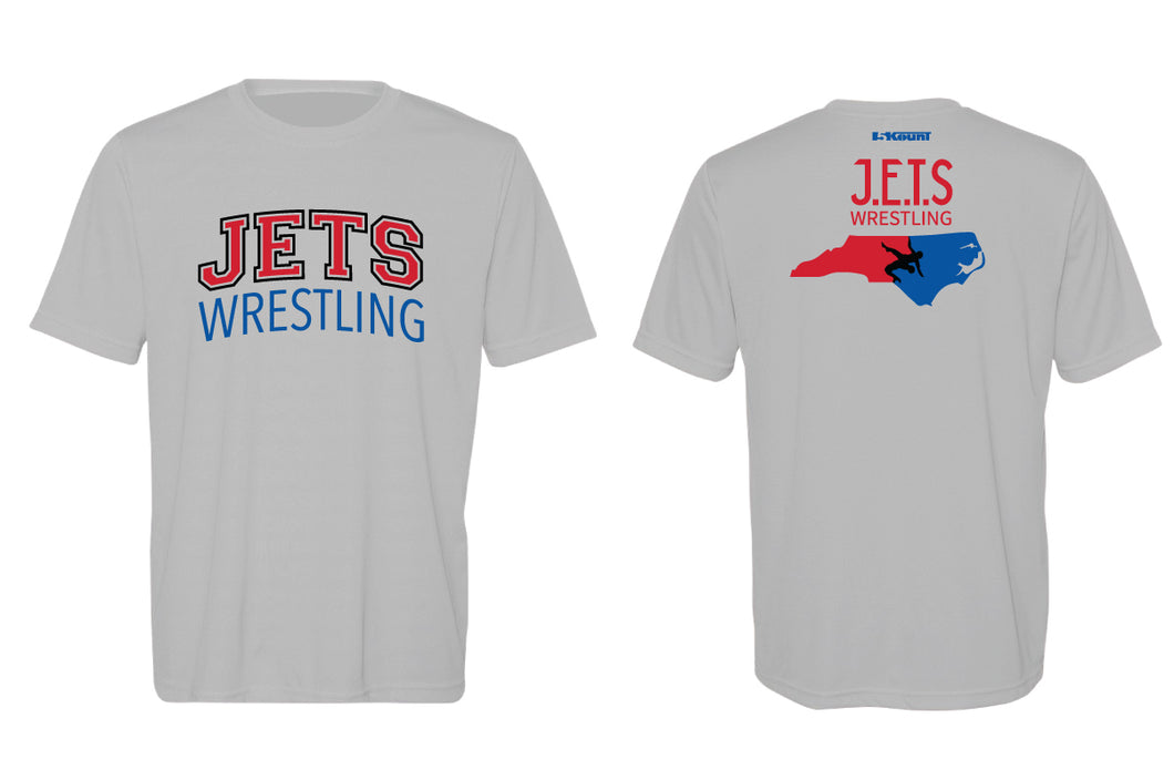 NC Jets Wrestling DryFit Performance Tee - Silver
