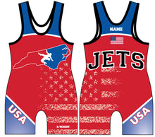 NC Jets Wrestling Sublimated Singlet