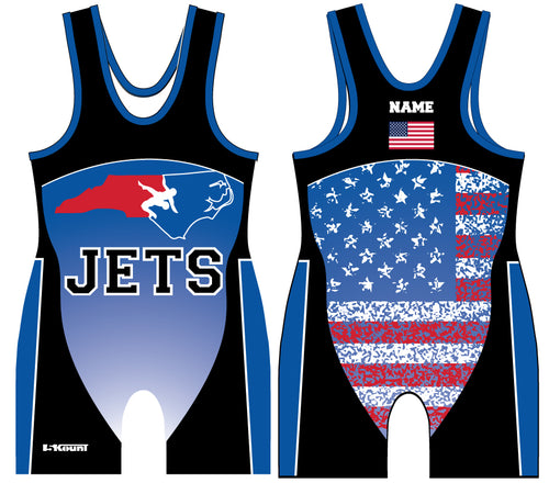 NC Jets Wrestling Sublimated Singlet - 5KounT2018