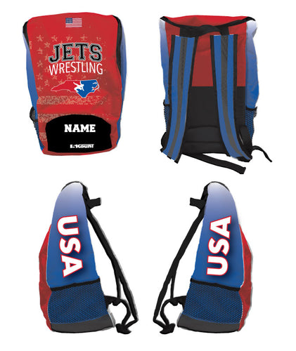 NC Jets Wrestling Sublimated Backpack - 5KounT2018