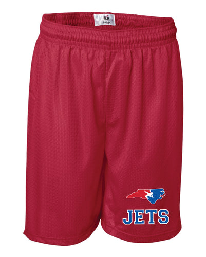 NC Jets Wrestling Tech Shorts - Red - 5KounT2018