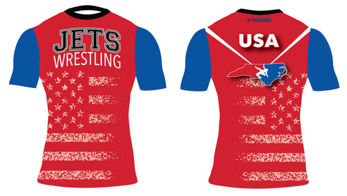 NC Jets Wrestling Sublimated Compression Shirt - 5KounT2018