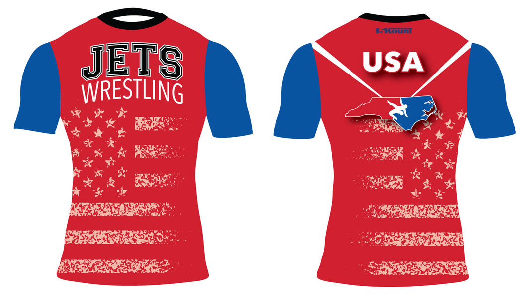 NC Jets Wrestling Sublimated Compression Shirt