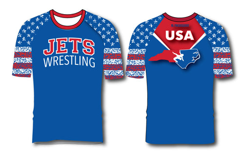 NC Jets Wrestling Sublimated Fight Shirt - 5KounT2018