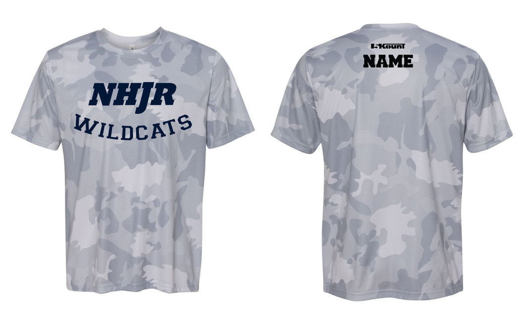 NH JR. Football Laser Camo Tech Tee